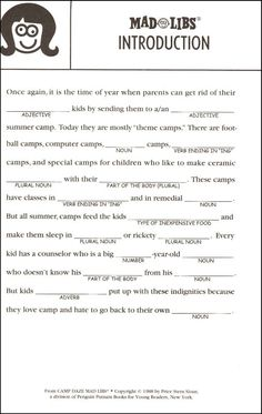 Epic image inside mad libs printable for adults