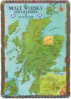 The Scottish Distilleries map