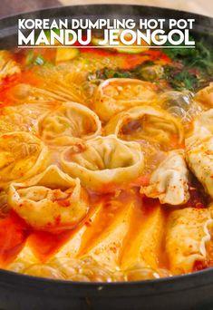 Kimchi, Korean Dumplings, Seonkyoung Longest, Asian Recipes, Ethnic Recipes, Hot Pot Recipes, Asian Hot Pot Recipe, Longest Recipe, Korean Dishes