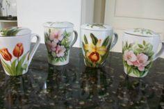 xícara porcelana pintadas