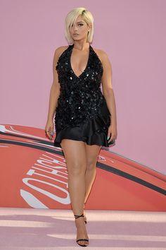 Bebe Rexha, Big Girl Fashion, Curvy Women Fashion, Womens Fashion, Bebe Baby, Full Figured Women, Hot Dress, Sexy Legs, Plus Size Outfits