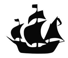 Thanksgiving crafts Pirate Ships - Pirate Ship Vinyl Decal Sticker Schooner Jolly Roger Blackbeard 5 5 x 4 5 Peter Pan Dibujo, Silhouettes, Ship Silhouette, Silhouette Images, Silhouette Vector, Jolly Roger, Vinyl Wall Decals, Boat Decals, Wall Stickers