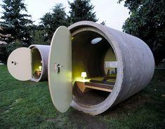 TUBERIAS DE HORMIGON - Excelente idea tuvieron en Austria. Si te falta una habitación en tu casa y tienes terreno, la puedes copiar.