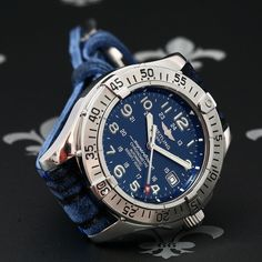 BREITLING Superocean Automatic 1500m Diving Watch Ref. A17360 Papers & 4 Straps