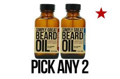 This listing is for:  Two (2) 3-Ounce Amber Glass Bottle of Simply Great Beard Oil    They will arrive to you in our Simply Great Beard Oil box READY TO