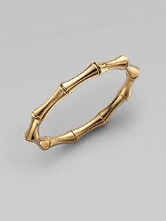 Gucci 18K Gold Small Bamboo Bangle Bracelet