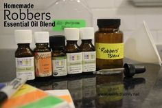 """Homemade """"Robbers"""" Essential Oil Blend Well Fed Family"""