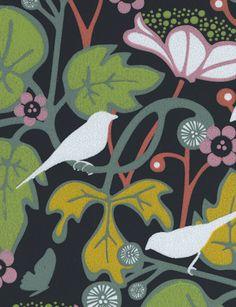 Boras Tapeter- Hanna Werning (God, I love her designs!!) Kvitter from Tangletree Interiors