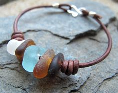 Rainstorm  Genuine Sea Glass Sterling Silver by NearTheWillows, $34.00