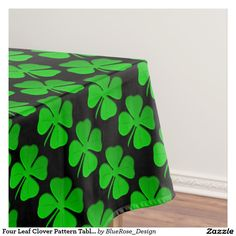 Shop Four Leaf Clover Pattern Table Cloth created by BlueRose_Design. Luck Of The Irish, Four Leaf Clover, The Perfect Touch, Color Pop, Elegant, Create, Outdoor Decor, Table, Pattern