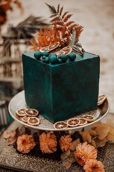 teal and rust orange color inspired minimalist fall wedding cake Black Wedding Cakes, Floral Wedding Cakes, Wedding Cakes With Cupcakes, Elegant Wedding Cakes, Wedding Cake Designs, Rustic Wedding, Fall Wedding, Elegant Cakes, Oreo Wedding Cake
