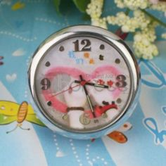 Small red hand pattern mini table clock