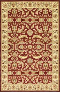 Red Classic Agra Area Rug