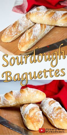 This recipe uses the Sourdough Starter that I made on my a channel to make a simple and delicious Sourdough Baguette Baking Bread Recipe Sourdough Baguette Recipe, Sourdough Recipes, Sourdough Bread, Bread Recipes, Cooking Recipes, Ma Baker, Bread Starter, Fermented Foods, Artisan Bread