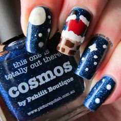 It's all about the polish: Santa in a Chimney nail art