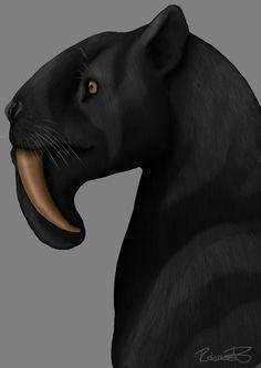 Thylacosmilus by Rob Halfpenny on DeviantArt Early Humans, Dinosaur Art, Extinct Animals, Prehistoric Creatures, Crane, Creature Feature, Dragon, Fauna, Fossils