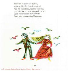 """o fim da """"Nau Catrineta"""" de Aquilino Ribeiro in O Livro de Marianinha (Bertrand Editora) Ilustrações de Maria Keil"""