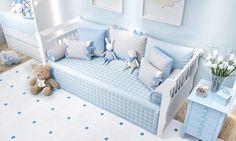 O Quarto de Bebê Amiguinhos inclui um enxoval de cama babá incrível! Com um edredom matelado, almofadas com estampas fofinhas e muita delicadeza, esse kit faz toda a diferença no ambiente!