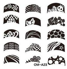 Мода стали штамп штамповка изображения Konad плиты печать ногтей шаблона плиты для женщин леди красота инструмента 1 шт./лот OMA23