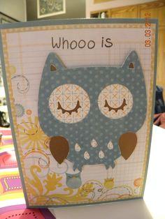 Birthday card with Cricut Create A Critter cartridge