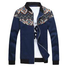 New Spring Print Design Men Jacket Fashion Casual College Baseball Jaqueta Masculina Slim Fit Pacthwork Men's Sportswear Clothes #Affiliate