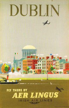 Dublin with Aer Lingus, 1956 #travel #Dublin #Ireland
