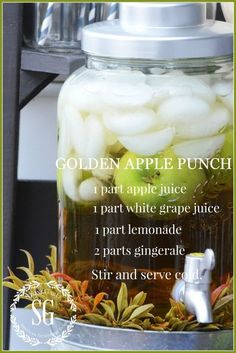 Golden Apple Punch recipe FALL DRINK BAR