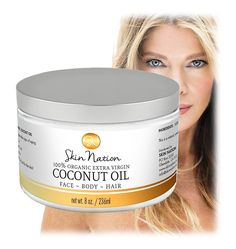As Seen On FOX, ABC, NBC and CBS News, Two-Time Emmy Winner Michelle Stafford Brings You an All-Natural and Organic Skin Care Line You are Going to Love! Made from the highest quality of premium ingredients, our best organic coconut oil offers an array of natural skin care properties you will love! Maybe you're looking for coconut oil for hair mask or an organic makeup remover, this product has so many skin care uses. #organicskincare #naturalhaircare #organicskincareproducts
