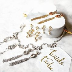 Say hello to our these beauties! #jewelry #bridaljewelry #bridesmaids #bridetribe #whiterunway #stockist #girlsquad #bling #happyfriday