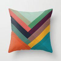Throw Pillows | Society6 ROWS OF VALLEYS