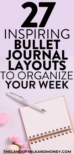 Check out these bullet journal weekly spread ideas for the key to help you setup your own bujo. Let these examples of other's doodles be your inspiration! Planner Organisation, Finance Organization, Bullet Journal 101, Bullet Journal Layout, Calendar Layout, Household Binder, Envelope System, Home Management Binder, Budget Binder