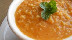 This traditional Turkish soup with red lentils, bulgur wheat, and dried mint is wonderful and easy to make. Garnish with lemon slices and fresh mint leaves.