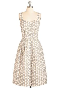 I've Got a Lovely Brunch Dress. Hum a tune while whipping up an awe-inspiring feast for pals in this button-up dress by hard-to-find British brand Emily and Fin. #gold #prom #modcloth