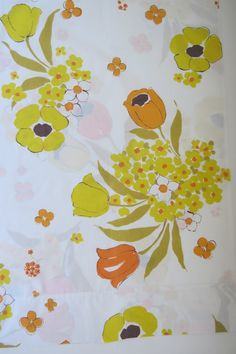 Vintage Retro Pillowcases by Wamsutta Orange by shabbyshopgirls, $15.99