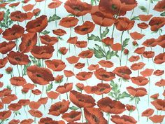 Quilting cotton fabric Red Poppy by MargoCreative, #cotton #fabric #quilting