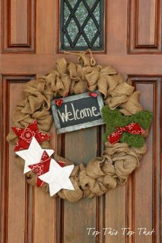 Ideas & Additional Instructions for Original Burlap Wreath - Duke Manor Farm