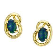 AUSTRALIA OPAL - Opal Earrings (E9100GB), $106.00 (http://www.australiaopal.com.au/opal-earrings-e9100gb/)