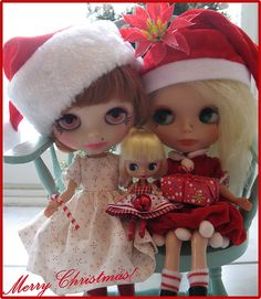 Christmas ~ Merry Christmas from the BLYTHE Family! Christmas set.#blythedoll
