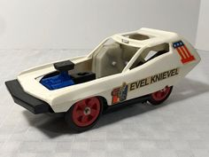 Evel Knievel Stunt & Crash Car Ideal 1974 Parts Only Rare Blue Engine #Ideal