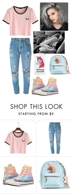 """""""london with james"""" by cherrypop17 ❤ liked on Polyvore featuring Levi's, Converse and Miss Selfridge"""