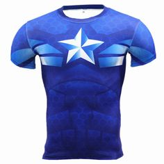 This short sleeved, superhero style tee comes in many different choices and is made out of a Lycra and spandex blend, with an O-neck collar. * ** Special Item Product - This Item will require a 12-21