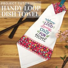 Hang your towels with ease with this handy loop dish towel tutorial from Embroidery Library.
