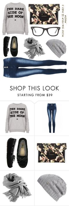 """""""To The Mall"""" by litprincesshavi ❤ liked on Polyvore featuring Topshop, Quiz, UGG Australia, Givenchy, Filippa K, MICHAEL Michael Kors and Ray-Ban"""
