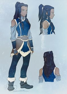 DeviantArt: More Like Legend of Korra OC: Anika by Black-pantheress Avatar Airbender, Avatar Aang, Team Avatar, Water Bending, Avatar Series, Avatar Book, Avatar World, Water Tribe, Zuko