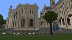 Cathédrale Notre-Dame-de-Paris #Minecraft #Église #Cathedrale Mansions, House Styles, Building, Travel, Minecraft Ideas, Viajes, Manor Houses, Villas, Buildings