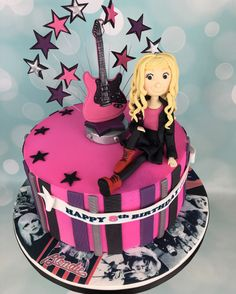 Rock chick pink birthday cake