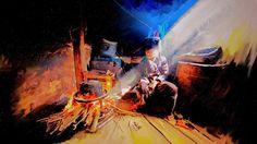 以前に描いた絵を色編集加工してみました、pickの友達の写真をアート光と影をカラーでお絵描きしたもので、僕のお気に入り作品です。  Anggun - Snow On The Sahara http://youtu.be/LHXyPTmliNs