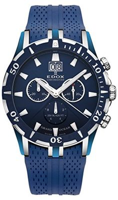 Edox Grand Ocean Chronograph Blue Dial Blue Rubber Mens Watch 10022-357B-BUIN. Product details http://astore.amazon.com/usxproducts-20/detail/B00HMTRA00