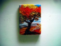 tree in autumn by SueForeyfibreart on Etsy