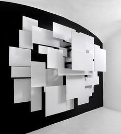 Esther Stocker – In defence of Free Forms, parte 3 exhibition view OREDARIA Arti Contemporanee, Roma. Photo: Mario Di Paolo.